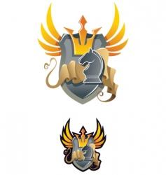 chess heraldic emblem vector image
