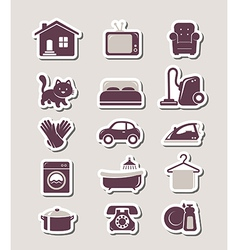 Household paper cut icons vector
