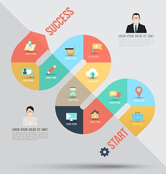 Abstract business info graphics template with icon vector