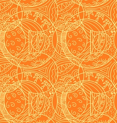 Orange abstract seamless pattern vector image