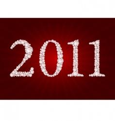 vector diamond 2011 year vector image