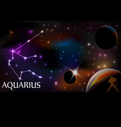 Horroscope Aquarius vector image