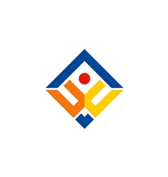 business finance people man logo vector image