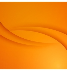 Orange abstract background with curves vector