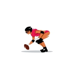 American womans football sign vector
