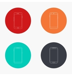 Modern smartphone colorful icons set vector