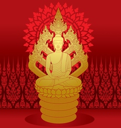 Buddha miditation vector