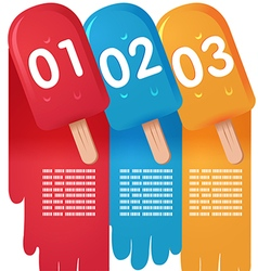 Ice cream sweet info graphic vector