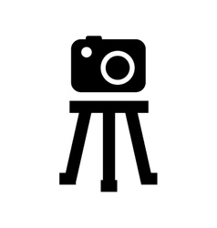 Tripod camera photographic icolated icon design vector