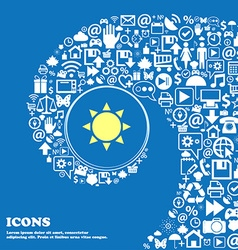 Sun icon nice set of beautiful icons twisted vector