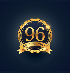 96th anniversary celebration badge label in vector
