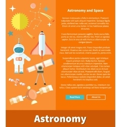 Astronomy and Space Web Page Design vector image vector image