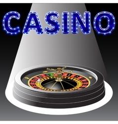 Casino roulette wheel vector