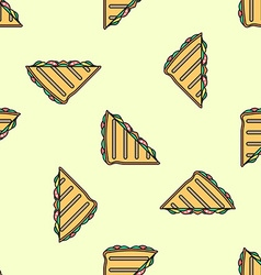 Club sandwich colored seamless pattern vector