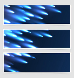 Comet meteor falling modern flyer collection vector
