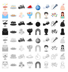 England country set icons in cartoon style big vector