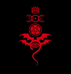 Evil eye the greater malefic vector