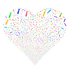 Exclamation sign fireworks heart vector