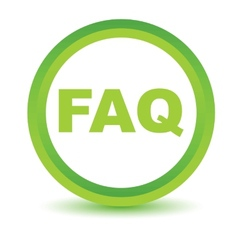 Green faq icon vector