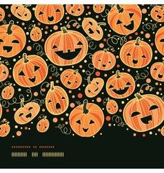 Halloween pumpkins horizontal border seamless vector