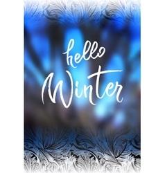 Hello winter lettering vector