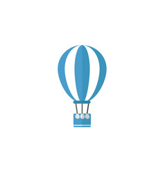Hot air balloon flat icon travel tourism vector