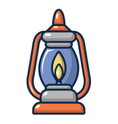 Kerosene lamp icon cartoon style vector