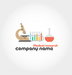 medical research and company name vector image vector image