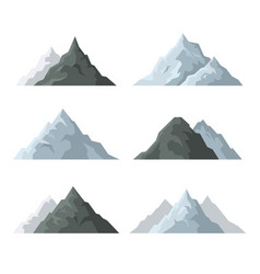 mountain icons set on white background vector image