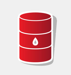 Oil barrel sign new year reddish icon vector