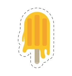 Orange popsicle icon image vector