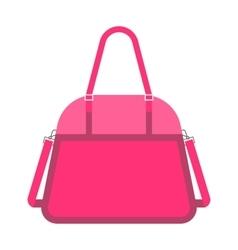Pink handbag fashion woman vector image vector image