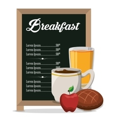 Restaurant breakfast menu healthy meal vector