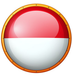 Round badge with indonesia flag vector