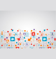 social media background network concept vector image vector image