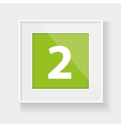Square frame with number two vector
