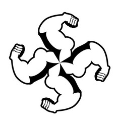strong swastika logo for aggressive fighters vector image vector image