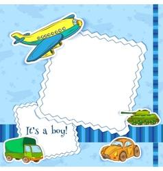 Toys frame boys vector image vector image