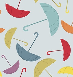 Umbrella seamless pattern many of colour opened vector