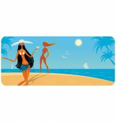 vacation girls vector image