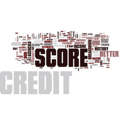 Your credit score breakdown text background word vector