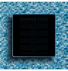 blue square frame on the background vector image