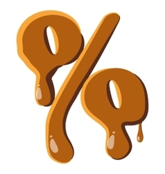 Percentage from caramel icon vector