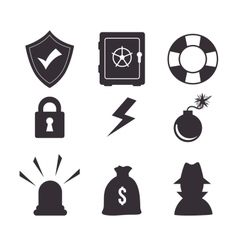 Set icon insurance protection design vector