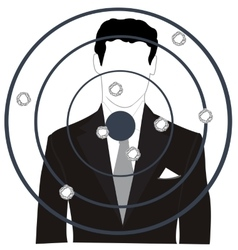 Persons on dartboard vector
