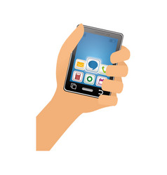 mobile applications for smartphone vector image