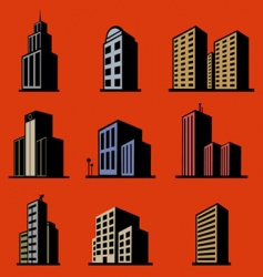 Modern buildings vector
