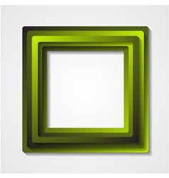 Green squares background vector image