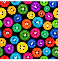 Seamless pattern with colored buttons vector