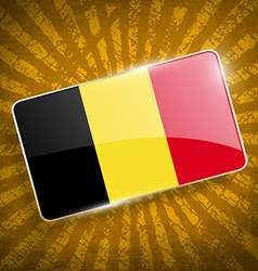 Flag of belgium with old texture vector
